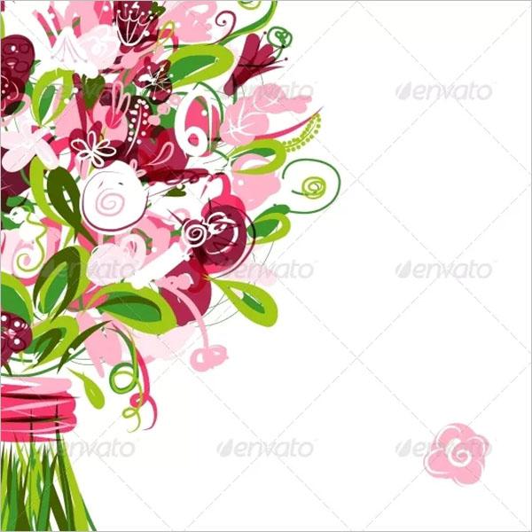 Printable Floral Postcard Design