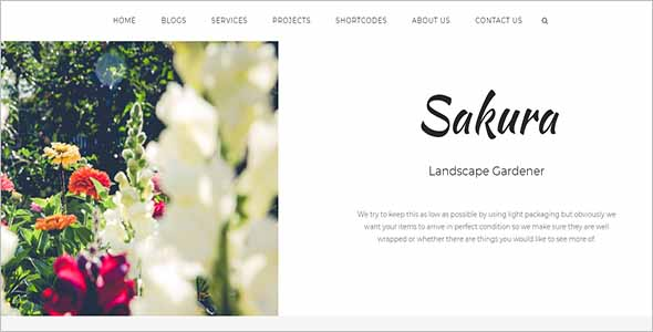 Printable Garden Website Theme1