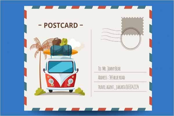 Printable Holiday Postcard Template