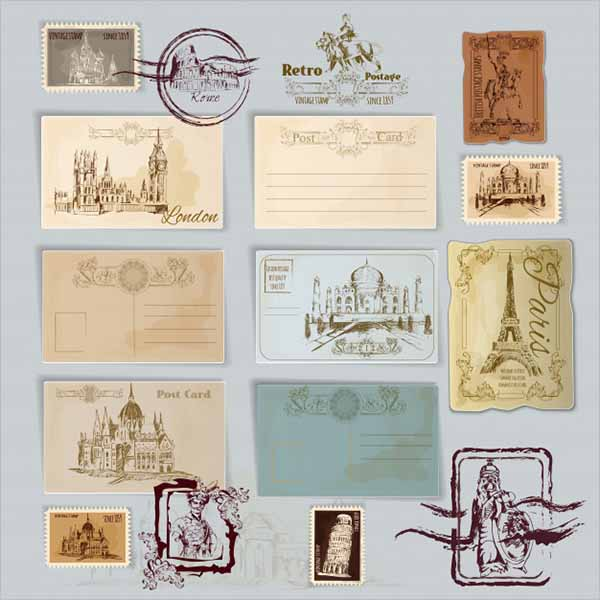 Printable Vintage Postcard Design