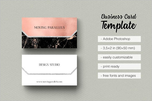 Professional Rose Gold Business Card