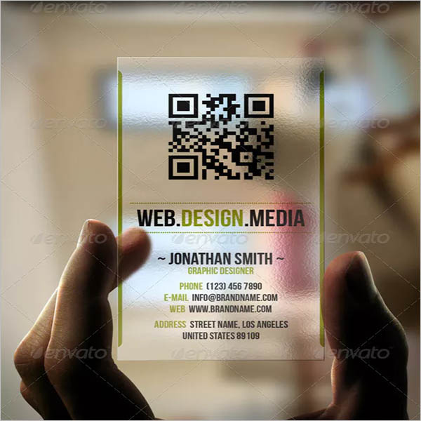 Qr Transparent Business Card Design