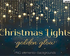 Christmas Lights Golden Glow