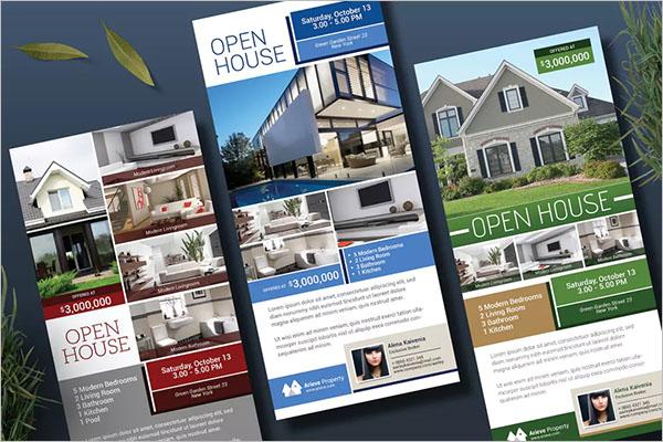 Rack Card Open House Flyer Design