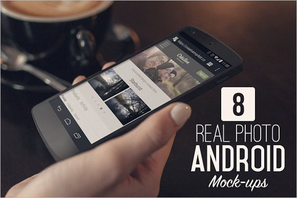 Real Photo Android Mock-ups