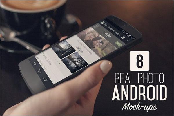 Real Photo Android Mock-ups