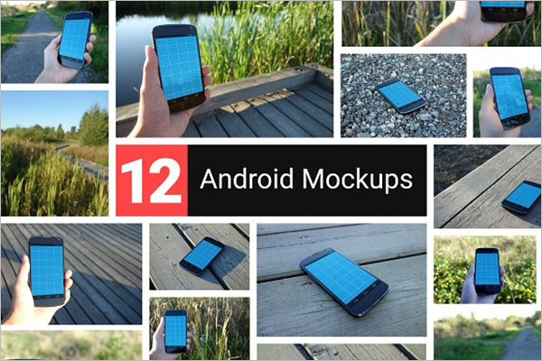 Realistic Android Mockup Design