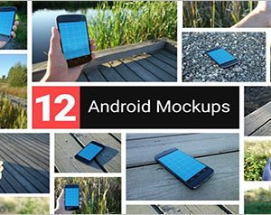 Realistic Android Mockups PSD Design