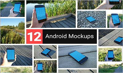 Realistic Android Mockups
