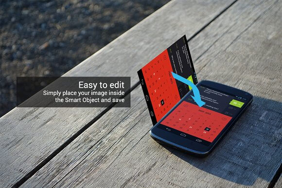 Realistic Android Mockups PSD Design2