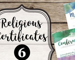 Religious & Church Certificates