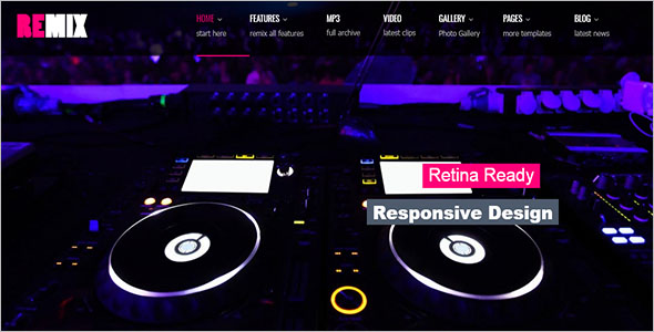 Remix Music Website Template