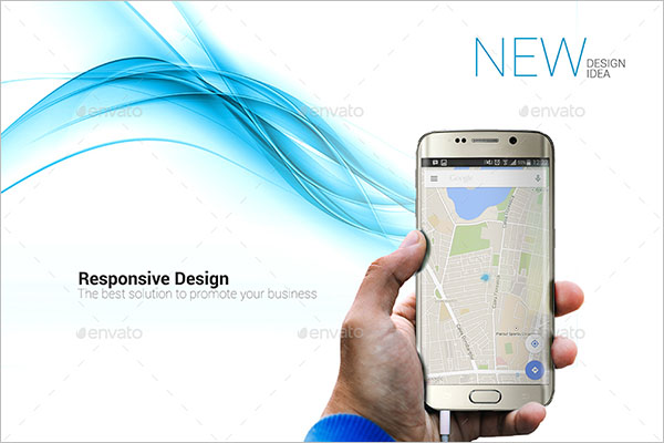 Responsive Android Smartphone Mockup