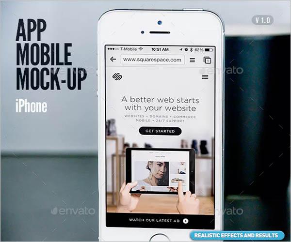 Responsive App Screen Mockup Design