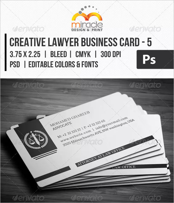 Responsive Lawyer Business Card