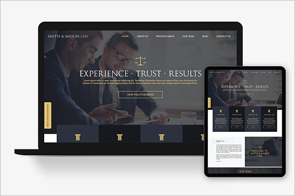 Responsive Lawyer Template