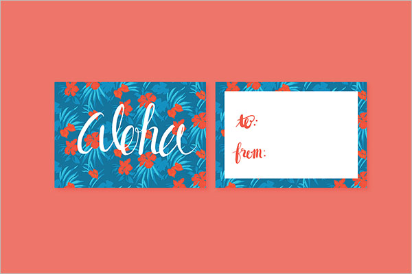 Retro Floral Postcard Template