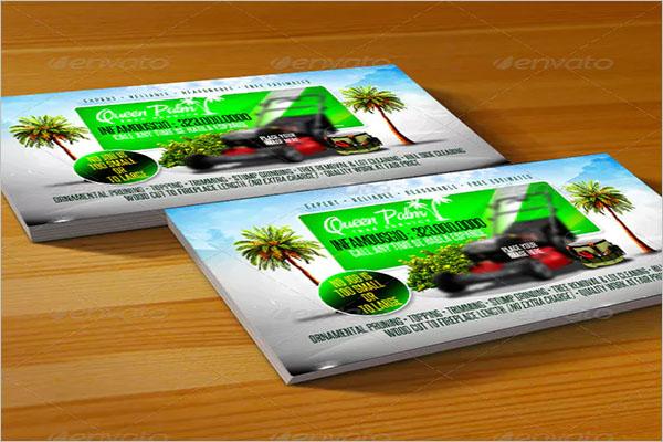 Retro Gardening Business Card