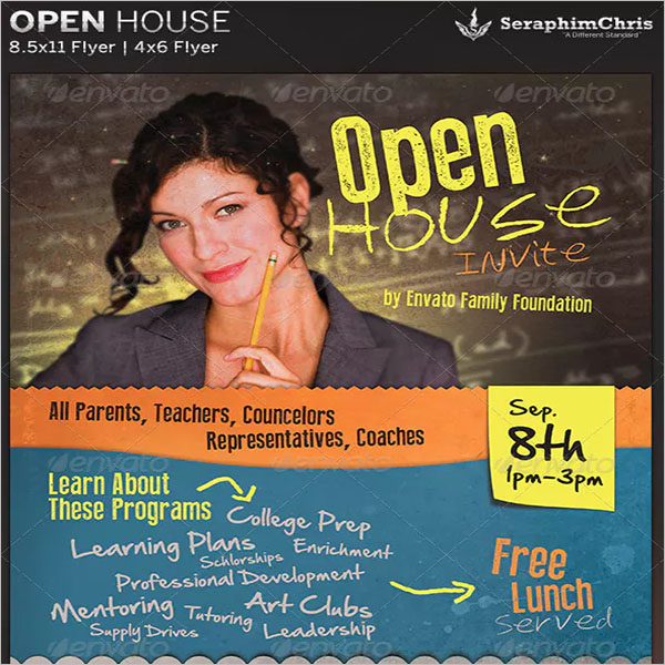 Retro Open House Flyer Template