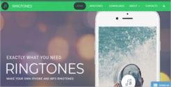 Ringtones Website Template