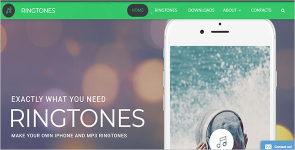 Ringtones Website Template