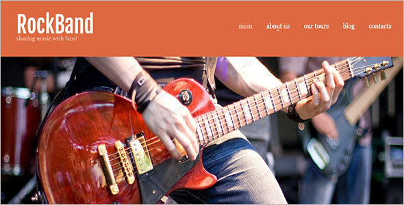 Rock Band Website Template