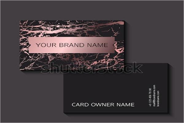 Rose Black Gold Business Card