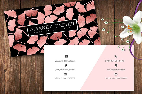 Rose Gold Beautiful Business Cards