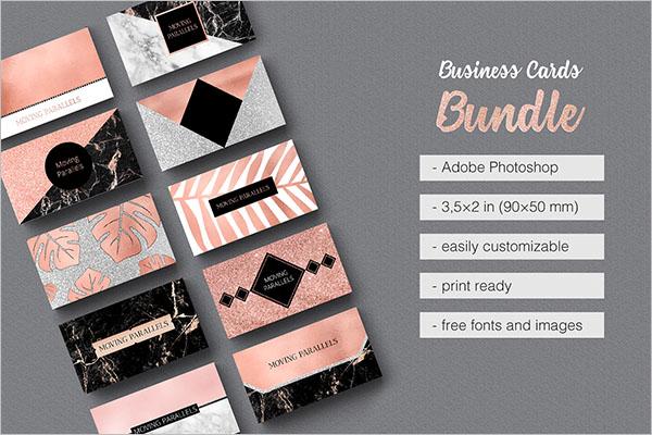 Rose Gold Business Card Design