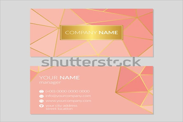 Rose Gold Edge Business Cards