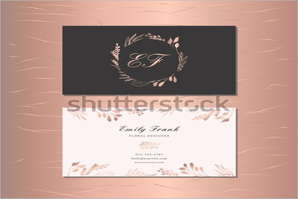 Rose Gold Example Business Card