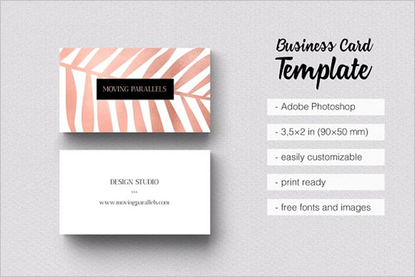 Rose Gold Exclusive Business Cards