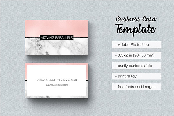 Rose Gold Ideal Business Card