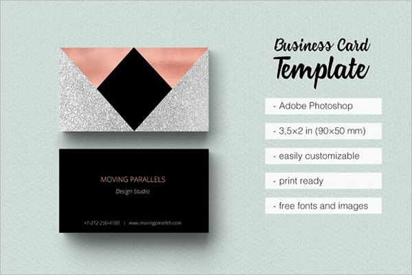 Rose Gold Marketing Business Card