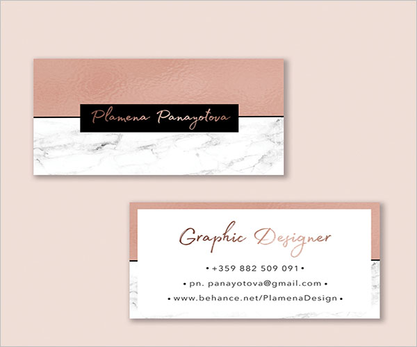 Rose Gold Printing Business Cards