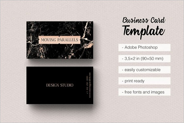 Rose Gold  Stylish Business Cards