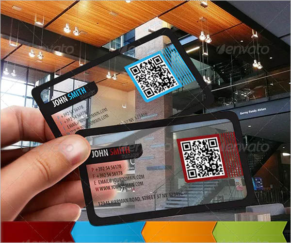 Rounded Corner Transparent Business Card