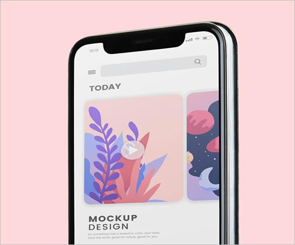 Sample App Screen Mockup Designs
