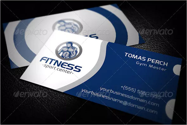 Sample Fitness Business Card Design
