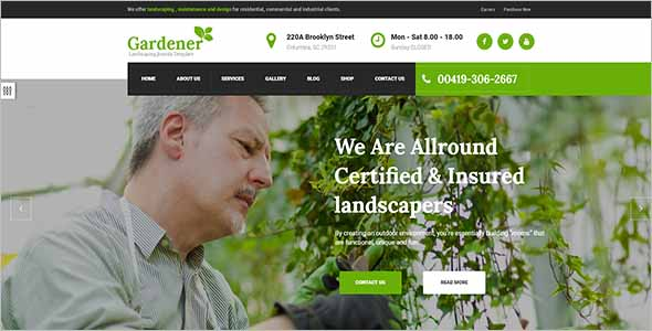 Sample Garden Website Template1