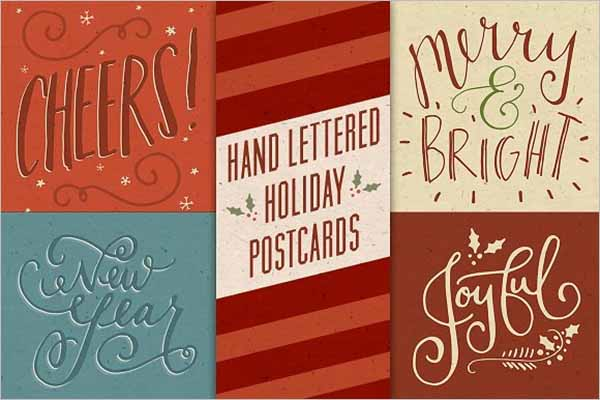 Sample Holiday Postcard Template