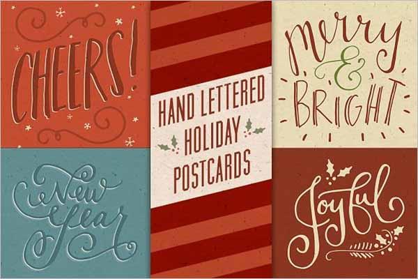 Sample Holiday Postcard Template
