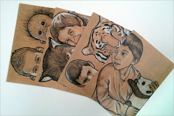 Sample Kids Postcard Design