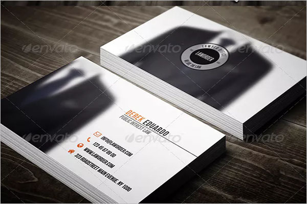 Sample Lawyer Business Card