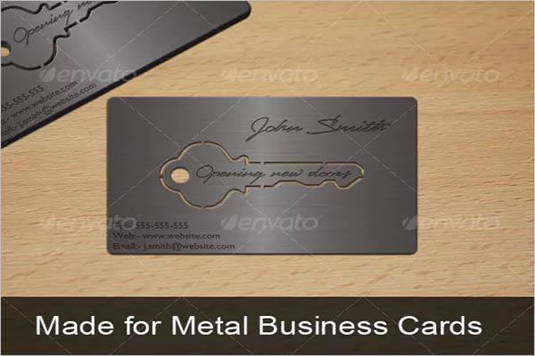 Sample Metal Business Card Design