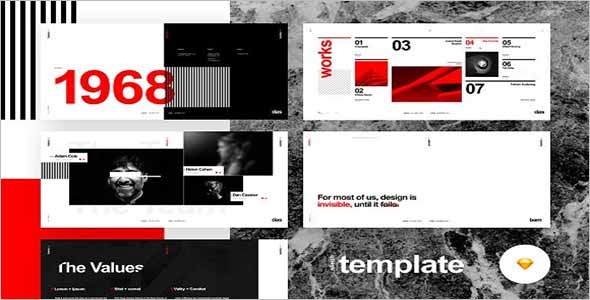 Sample Sketch Website Template