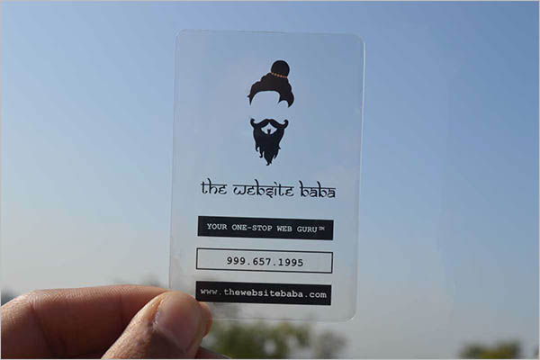 Sample Transparent Business Card