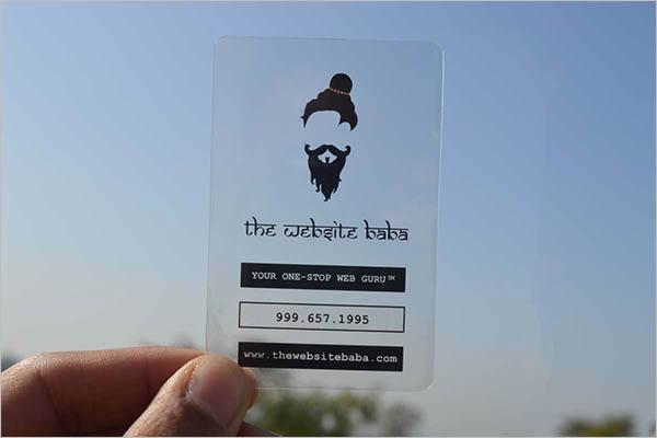 Sample Transparent Business Card