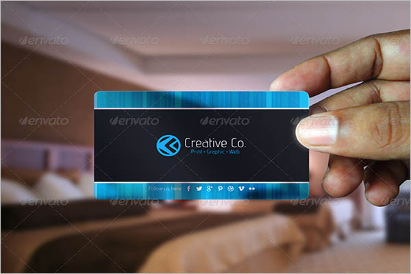 Semi-Transparent Business Card Design