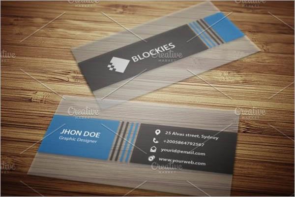 Semi Transparent Business Card